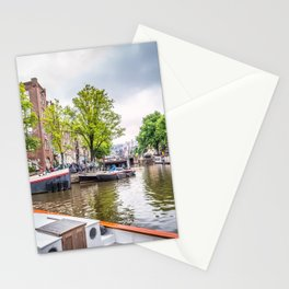 Canal in Amsterdam Stationery Cards