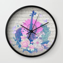 "VIOLIN by collection ""Music"" Wall Clock"