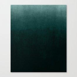 Ombre Emerald Canvas Print