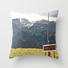The Bear's Tooth Throw Pillow