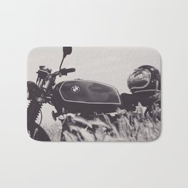 Scrambler photography, motorcycle lovers, motorbike, café racer, cafe racer, man cave gift Bath Mat