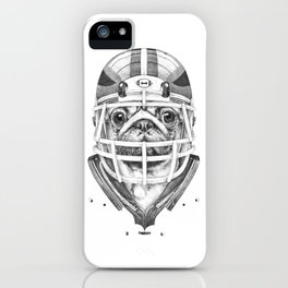American Pug Football iPhone Case
