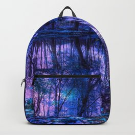 Enchanted Forest Lake Purple Blue Backpack