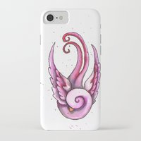 swallow iPhone & iPod Cases featuring Swallow by Rebecca Jobling