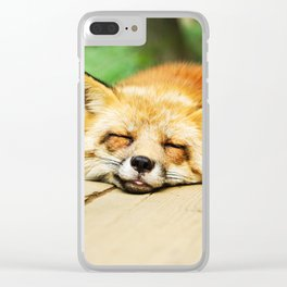 Cutie Foxy Nappy Clear iPhone Case