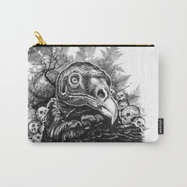 Vulture and Pine Carry-All Pouch