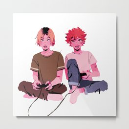 kenma & hinata - video games Metal Print