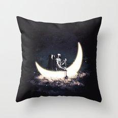 Moon Sailing Throw Pillow