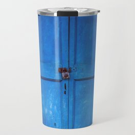Blue Indian Door Travel Mug