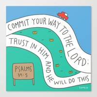 bible Canvas Prints featuring bible message by ssongso