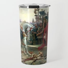 Vercingetorix Throws Down His Arms At The Feet Of Julius Caesar Travel Mug