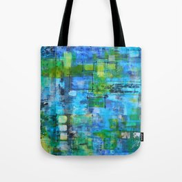 Abstract Blue Blue Tote Bag