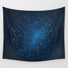 Constellation Star Chart Wall Tapestry