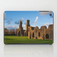 downton abbey iPad Cases featuring Neath Abbey by Julie Hoddinott
