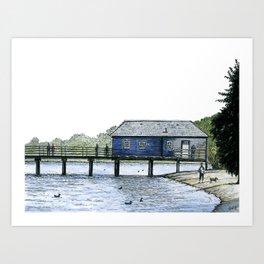 Luss Pier, Loch Lomond, Scotland Art Print