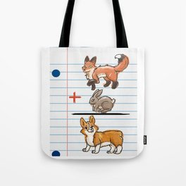Corgi Math Tote Bag
