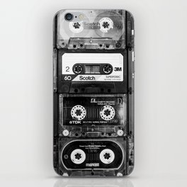 Something Nostalgic - black and white #decor #buyart #society6 iPhone Skin