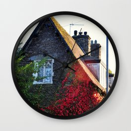 Stone Cottage Wall Clock