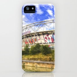 West Ham Olympic Stadium London Art iPhone Case