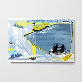 Whitewater Rafting Metal Print