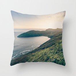 Keem Bay Sunset - nature photography Throw Pillow