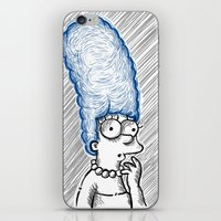 simpson iPhone & iPod Skins featuring Marge Simpson by Axpirine