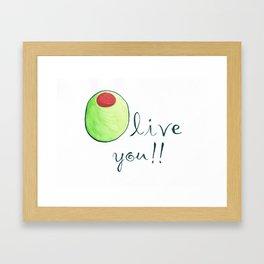 Olive You Framed Art Print