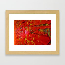 Up Close & Personal with Red Townscape II, #2 Framed Art Print
