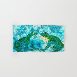 Frogs Face Off  Hand & Bath Towel