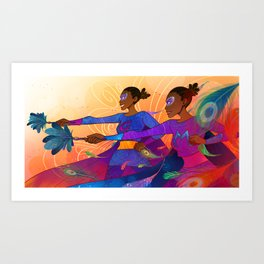 MM and GG Art Print