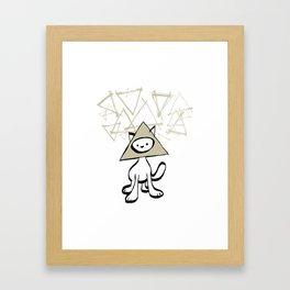 minima - pyramid cat Framed Art Print