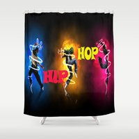 hip hop Shower Curtains featuring Hip Hop by ezmaya