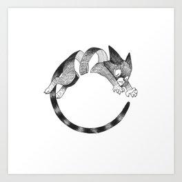 Cat Loop Art Print