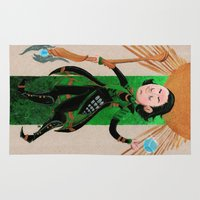 tarot Area & Throw Rugs featuring Loki Tarot by ARTeapot SHOP