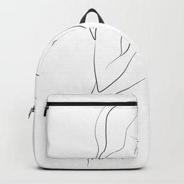 Lovers - Minimal Line Drawing Art Print3 Backpack