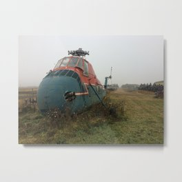 Vintage Helicopter Metal Print