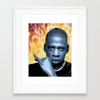 jay z Framed Art Prints featuring Jay Z by CjosephART