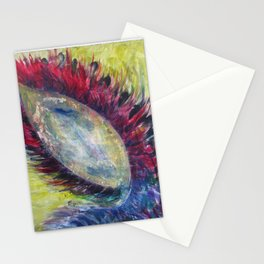 """""""Seed of Life"""" Abstract Surreal Acrylic Painting by Noora Elkoussy Stationery Cards"""