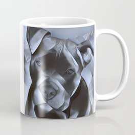 blue nose pit bull painting Coffee Mug