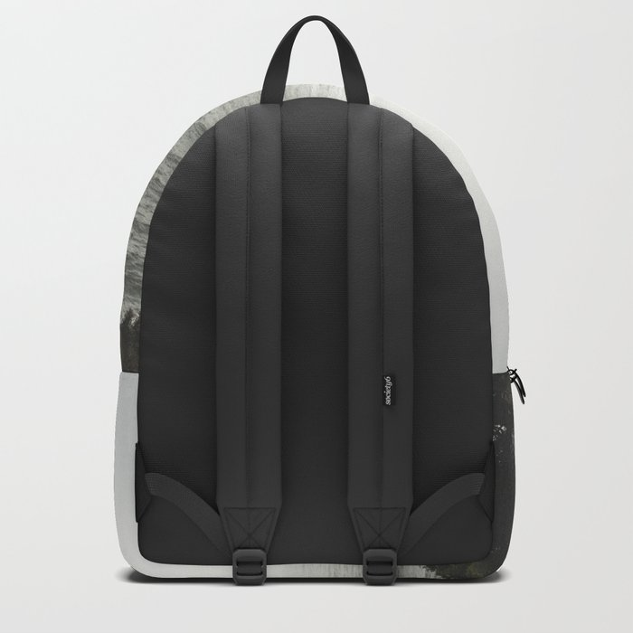 And So The Adventure Begins - Ocean Emotion Black and White Backpack