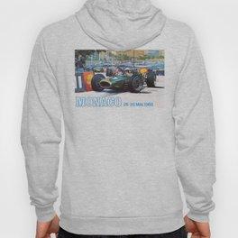 1968 MONACO Grand Prix Racing Poster Hoody