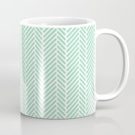 Herringbone Mint Inverse Coffee Mug