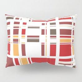Fourth Dimension Red Plaid Pillow Sham