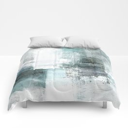 Atmospheric Contemporary Abstract Landscape Painting Comforters