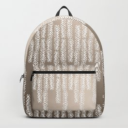 Eye of the Magpie tribal style pattern - champagne Backpack