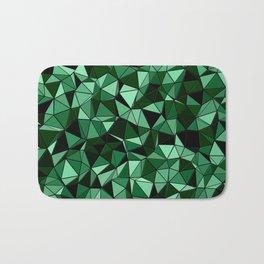 Emerald Lo Poly Bath Mat