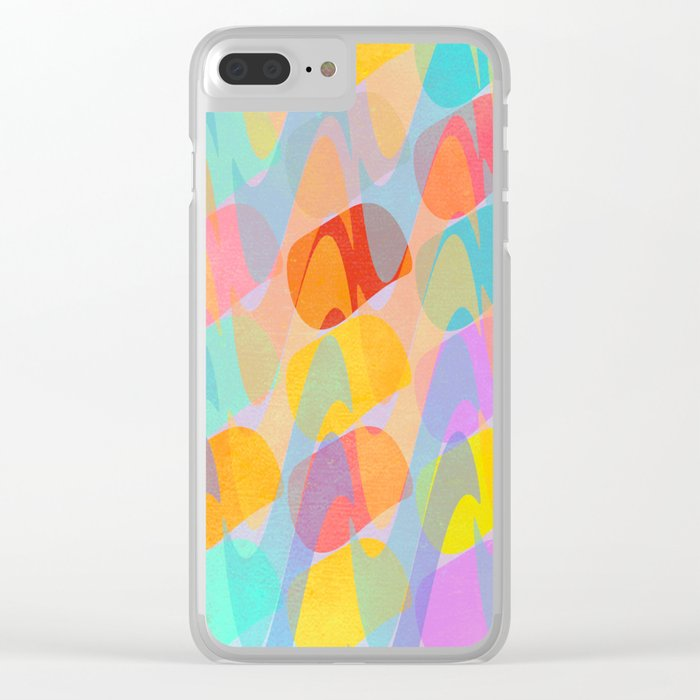 Waves and Spots Clear iPhone Case