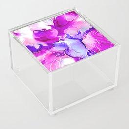 Purple Posies Acrylic Box