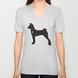 My Basenji Heart Belongs To You Unisex V-Neck