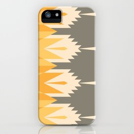 Tribal Feather Pattern Yellow Gold iPhone Case